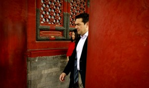 O Αλέξης Τσίπρας στον σταθμό του Πεκίνου