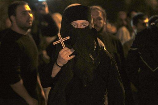 Demonstratie tegen 'Corpus Christi'