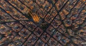 Όταν κοιτάς από ψηλά, μοιάζουν οι πόλεις ζωγραφιά...
