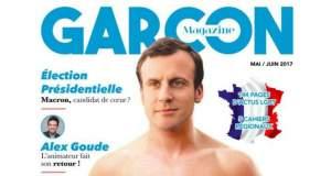 Ημίγυμνος ο Μακρόν σε εξώφυλλο LGBT περιοδικού