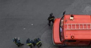 Λεωφορείο πήρε φωτιά εν κινήσει στη Βαρυμπόμπη