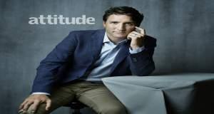 Ο Τζάστιν Τριντό στο εξώφυλλο του LGBT περιοδικού « Attitude»