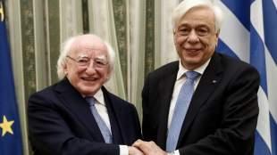 Μηνύματα προς Τουρκία και ΠΓΔΜ στη συνάντηση του Πρ. Παυλόπουλου με τον Ιρλανδό ομόλογό του