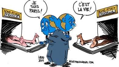 To σκίτσο του Λατούφ για την υποκρισία του δυτικού κόσμου