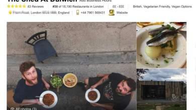 Έφτιαξε ψεύτικο εστιατόριο και το Trip Advisor το ανέδειξε το καλύτερο στο Λονδίνο [ΦΩΤΟ]
