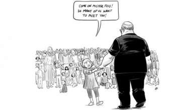 Ένα σκίτσο για τον δάσκαλο στη Φλόριντα που σκοτώθηκε προστατεύοντας τους μαθητές του