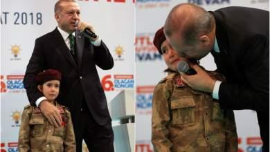 Κοριτσάκι έξι ετών «επιστράτευσε» ο Ερντογάν - Το παιδί έκλαιγε τρομοκρατημένο [ΒΙΝΤΕΟ]