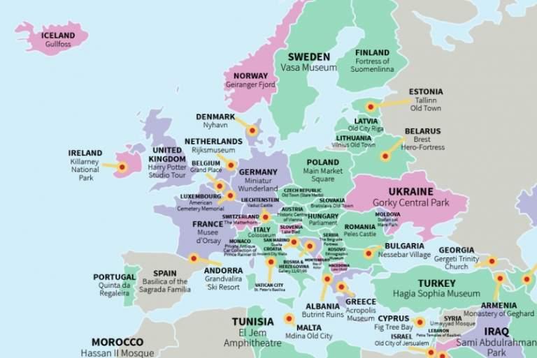 Τι πρέπει να δείτε σε κάθε χώρα; [ΧΑΡΤΗΣ]