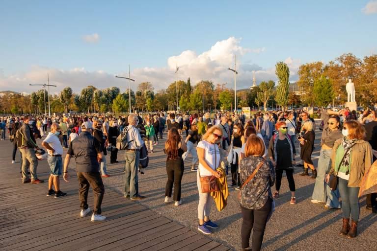 Μεγάλο πλήθος στάθηκε «Αμετακίνητο» στη Θεσσαλονίκη για τα αρχαία